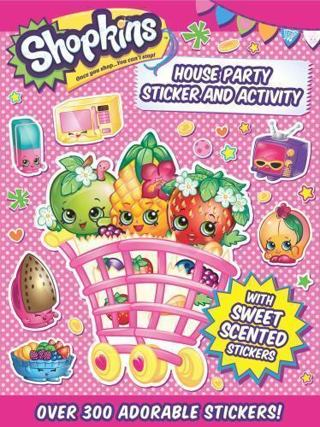NEW - Shopkins House Party Sticker and Activity Book w/Scented Stickers *CHRISTMAS IS COMING*