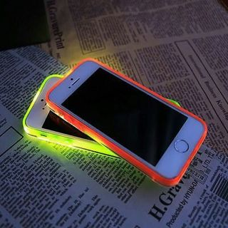 New Cool Incoming Call LED Blink Transparent Back Case Cover for iPhone 5/s 6 6Plus
