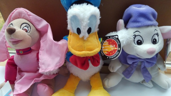 Disney Stuffies Donald Duck Maid Marion Bianca NWT free shipping