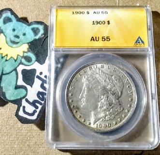 1900 Morgan Silver Dollar Graded  (AU55)