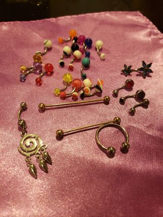 25 PC Pre Owned Body Jewelry
