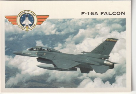 Vintage Collector Card: Wings of Fire: F-16A Falcon