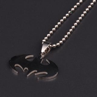 Punk Bat Batman Pendant Necklace Black Alloy Stainless Steel Charm Chain Charm