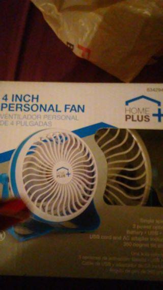 "Home Plus 4"" Personnel Fan"