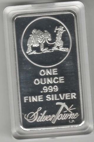1 oz Silver Towne Prospector .999 fine Bullion  ounce