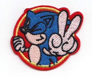 Sonic the Hedgehog Embroidered Iron-On Patch