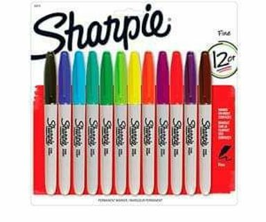 ♥️ PACKAGE OF 12 COLORED SHARPIES ♥️