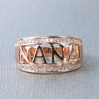 [Jewelry] Gold Silver Plated Nana Rhinestone Ring for Woman