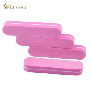 10Pcs Sponge Mini Nail File Block Buffer Sanding 100/180 Nail Tools Diamond Pink Color Lime a ongl