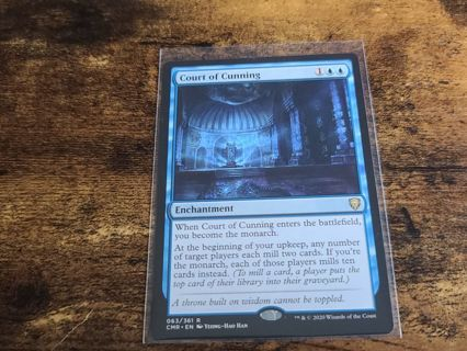 Magic the gathering mtg Court of cunning rare card Commander Legends