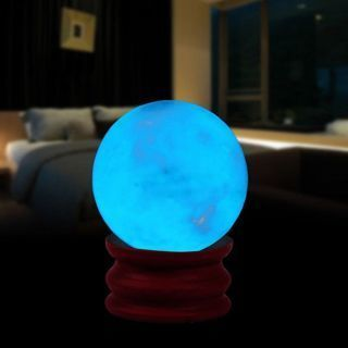 [GIN FOR FREE SHIPPING] 35MM Luminous Quartz Crystal Sphere Ball Glow In The Dark Stone