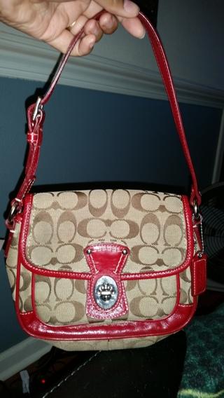 Small Coach Classic Bag True RED #14282