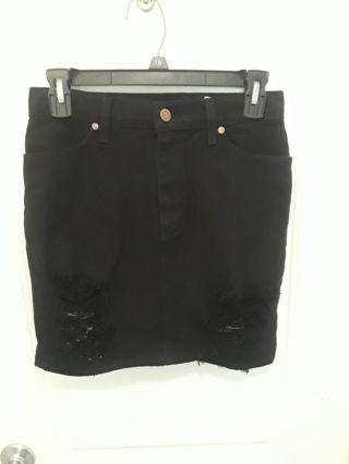 Women black denim Skirt (26)