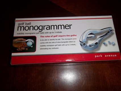 golf ball monogrammer instructions