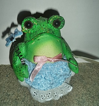 Decorative Frog  - Fabric Mache Frog by Cottontale
