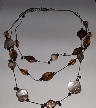 Beautiful Necklace Bohemian 3 Strand Fashion Statement