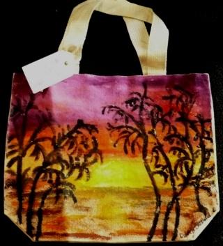 Original Hand Painted Cloth Bag