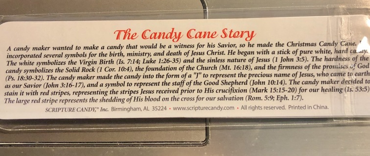 Two Brand New, Sturdy Book Marks. With The Candy Cane Story On Back. Free To Ship