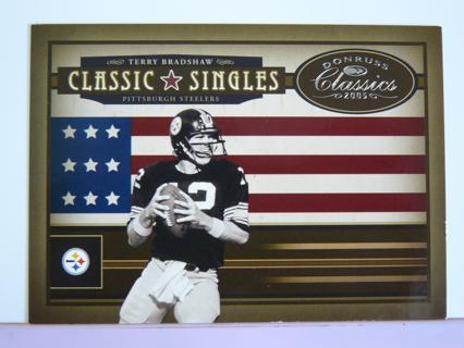 "2005 Donruss Classics ""Classic Singles) Terry Bradshaw (Steelers) S/N #491/500"