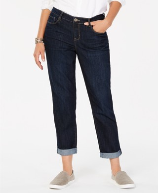 Style & Co. Curvy-Fit Boyfriend Jeans