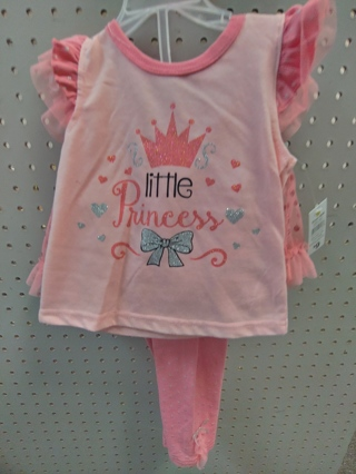 "NWT! DDG-DARLINGS - Baby Girls 2 pc Set-""Little Princes-Size 24mths 100% polyester"