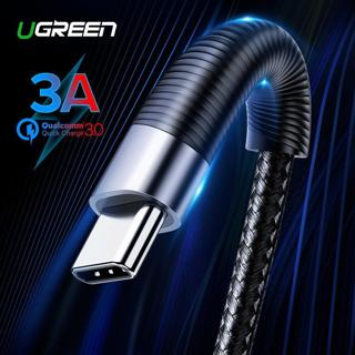 Ugreen USB C Cable for Samsung Galaxy S10 S9 S8 Plus Note9 Fast Mobile Phone Charging Type-C Cable