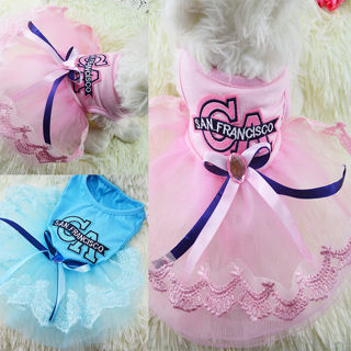 Pet Puppy Small Dog Cat Lace Skirt Princess Tutu Dress Clothes Apparel