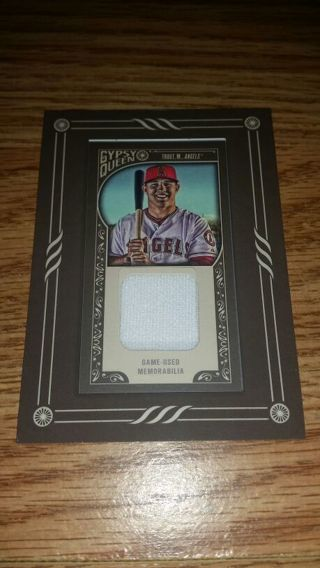 super popular 3b67c 06d77 Free: 2015 Gypsy Queen Mini framed Mike Trout game used ...