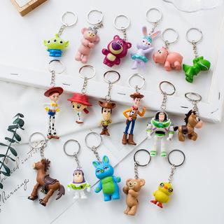 Toy Story 4 Woody Jessie Buzz Lightyear Figures Keychain