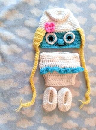 Free Smurf Or Smurfette Diaper Cover Set 3 Pieces Custom