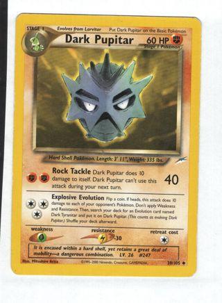Pokemon TCG! - Dark Pupitar 38/105 Card Neo Destiny Pokemon Cards Singles Toys Hobbies Games