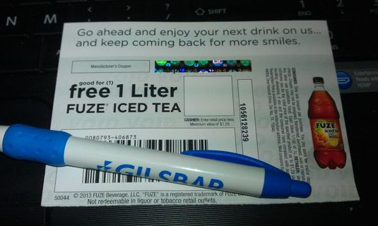 Free 1 Liter Fuze Iced Tea