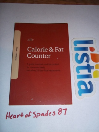 free alli calorie fat counter book other books listia com