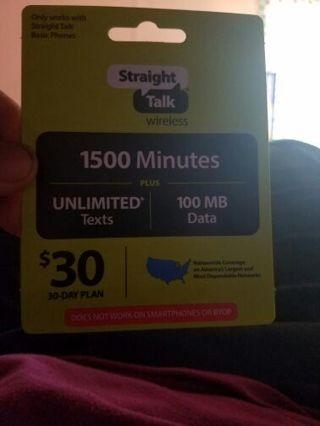 $30 straight talk phone card
