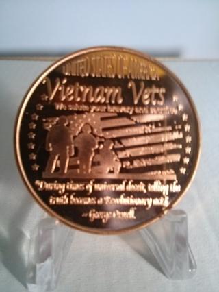 """Vietnam Vet"" 1 Oz. .999 Fine Copper Coin"
