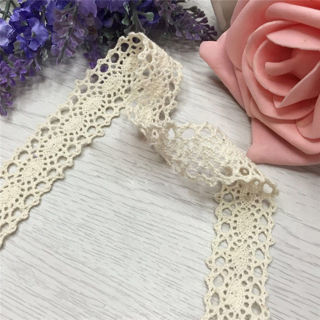DIY Vintage Embroidered Lace Edge Trim Applique Ribbon Crochet Sewing Craft