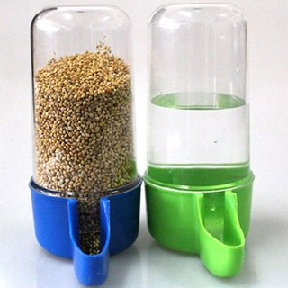 [GIN FOR FREE SHIPPING] 1Pc Plastic Automatic Bird Pet Feeder Food Water Bottle