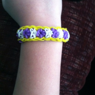 Rainbow Loom Team Spirit Bracelet Lsu