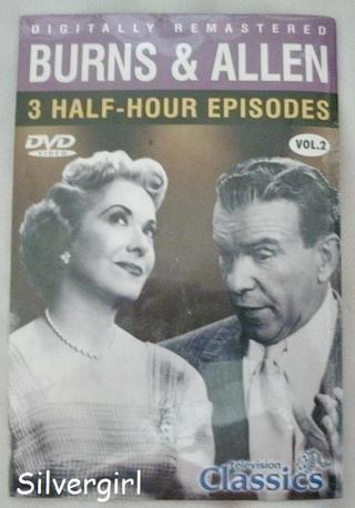 A New Unopened DVD Classic Television *Burns & Allen* 3 Half Episodes.