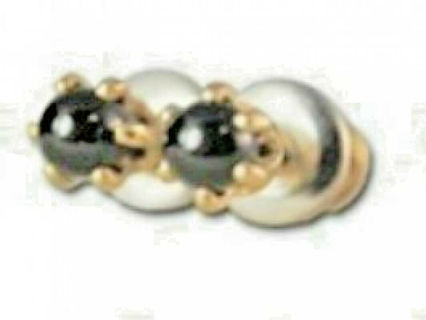 Earrings black onyx 14 karat gold filled plated post quality jewelry NWT