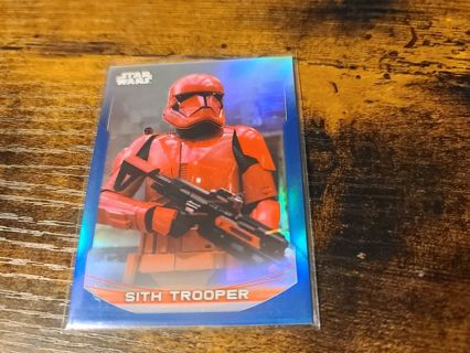 2020 Star Wars Perspectives Sith Trooper blue parallel refractor card #'d 031/150