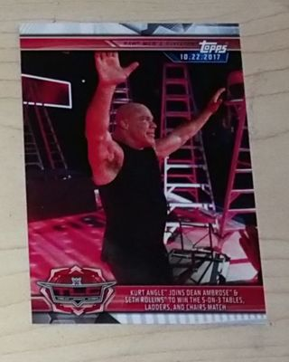 WWE 2019 Road to Wrestlemania Kurt Angle Card