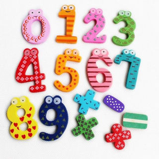 20 Number Wooden Fridge Magnet Education Learn Cute Kid Baby Toy