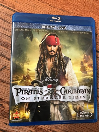 Pirates of the Caribbean series- Bluray movies-all blurays look new with discs