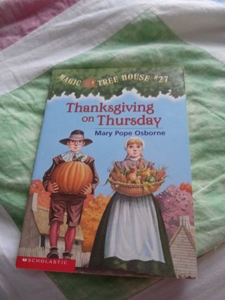 Magic Tree House Book #27 Thanksgiving on Thursday