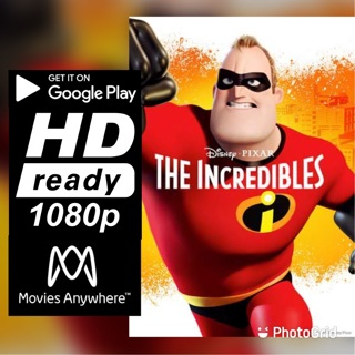 THE INCREDIBLES  HD GOOGLE PLAY CODE ONLY