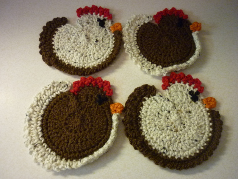 Free Chicken Coasters Crochet Listia Auctions For