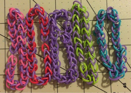 Rainbow loom bracelet lot