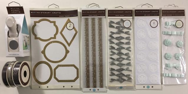 Martha Stewart Crafts Lot - Stickers, Borders, Ribbon, Scalloped Circle Punch