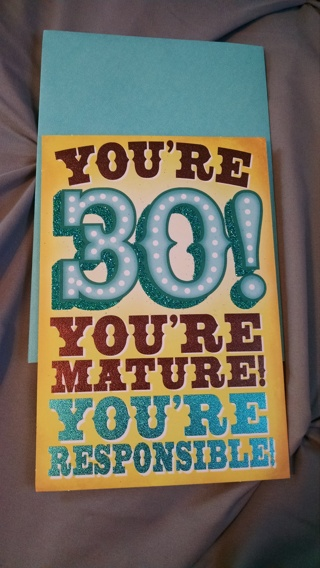 HALLMARK  Birthday Card for Someone Who is 30! -- with Envelope
